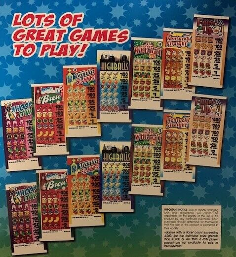 Choose Your Game-$1 5-Tab Pull-Tab Tickets 400 top/2 Dollar