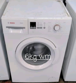 Bosch 6kg washing machine free delivery in Leicester