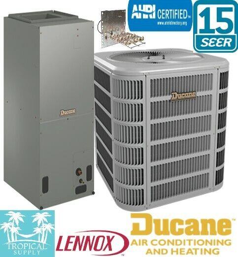 2.5 Ton 15.5 Seer Heat Pump Split System Air Handler & Condenser with Heat Strip