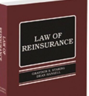 Law Of Reinsurance  2016 Edition New Paperback  Staring  Thomson Reuters