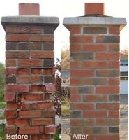 Chimney rebuilds tuck-pointing and cleaning!