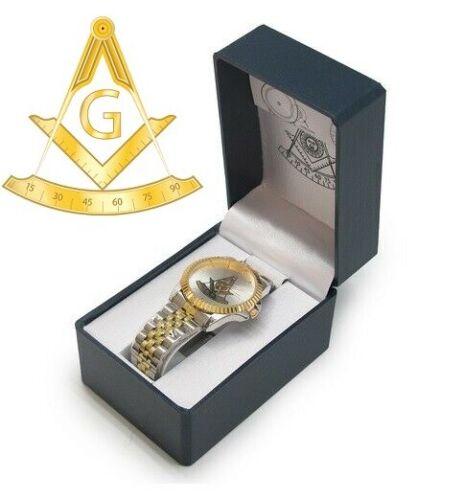 Masonic Past Master Watch Square and Compasses Symbols Mason Freemasons Wrist