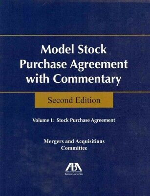Model Stock Purchase Agreement With Commentary, Paperback by Aba Business (Aba Model Stock Purchase Agreement With Commentary)