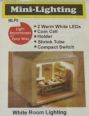 Micro Miniature Led (Micro Mini LED Lighting - Warm White, Coin Battery Operated Dollhouse Miniatures )
