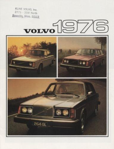 1976 Volvo 265 244 264 Dealer Sales Brochure Book
