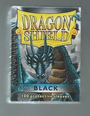 (100) Dragon Shield Black Protective Sleeves Sealed Magic MTG FREE SHIPPING
