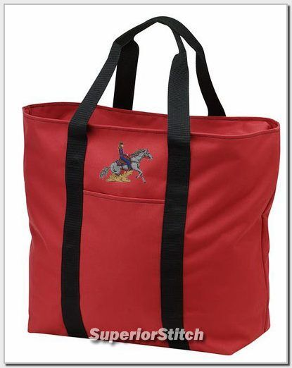 REINING horse embroidered tote bag ANY COLOR