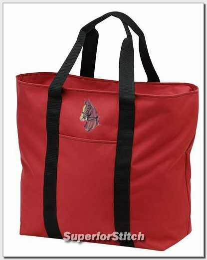 SADDLEBRED horse embroidered tote bag ANY COLOR