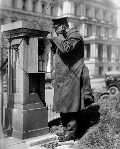 White House Police Call Box Photo - Washington DC 1915