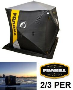 "NEW FRABILL HQ 200 HUB ICE SHELTER 70""X70""X80"""