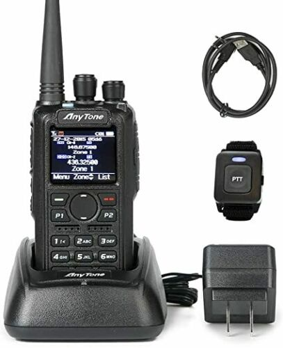 AnyTone AT-D878UVII Plus GPS DMR Analog dual band UHF VHF Bluetooth Radio