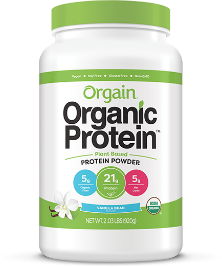 NEW Orgain Organic Protein Plant Based Powder Vanilla Bean 2