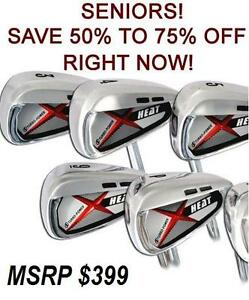HOT NEW 2014 X HEAT OVERSIZE IRONS FULL 3-PW IRON SET GRAPHITE SENIOR FLEX