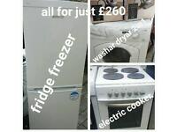 washar dryar 2in1 fridge freezer electoric cooker comes with warranty can be delivered