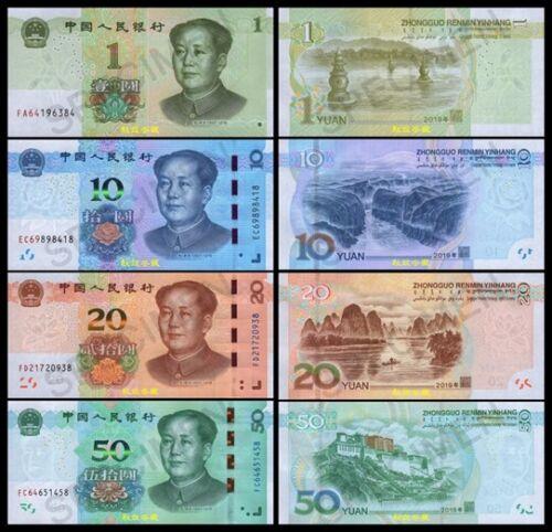 China 1-10-20-50 Yuan/RMB, 2019, Hybrid, UNC