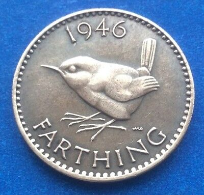 1946 KING GEORGE VI FARTHING COIN 72ND BIRTHDAY