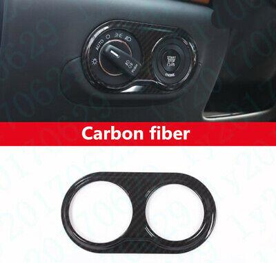 Carbon fiber Inner Headlight Switch Button Cover For Maserati Levante 2017-2019