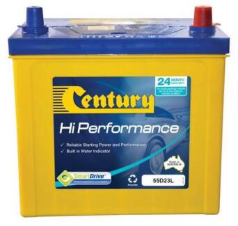 CENTURY 55D23LMF HIGH PERFORMANCE BATTERY 24 MTHS NATIONAL WARR
