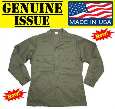 US MILITARY OG507 UTILITY FATIGUE SHIRT DURA PRESS USGI OD 16 1/2 X 36 ARMY USGI
