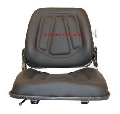 Skid Steer Loader Fork Lift Fold Down Seat W Adjust Slide Tracks For Case Ih