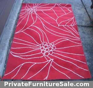 Red Area Rug in good clean condition