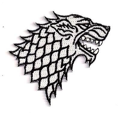 Game of Thrones- STARK House Logo - Uniform Patch Aufnäher - zum Aufbügeln - neu