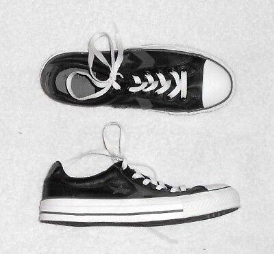 CONVERSE basses cuir noir & gris  P 39 (6 ) TBE ()