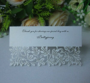 Wedding reception table place cards invitation name card for Decoration table pour invites