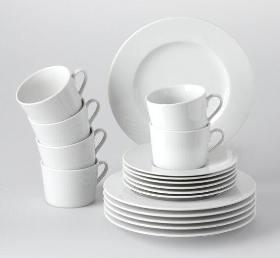 Geschirr Tafelservice rund weiß Heike 6 Personen Retsch Arzberg Porzellan Set