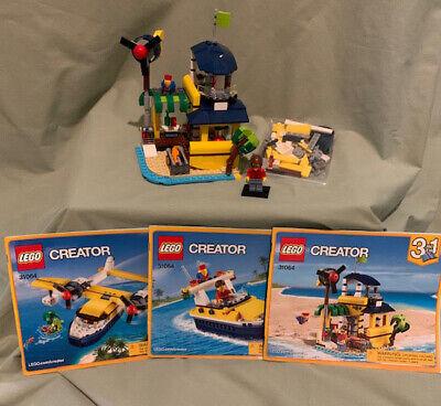 Lego 3 in 1 Creator 31064 Island Adventures Plane/Boat/Beach Hut