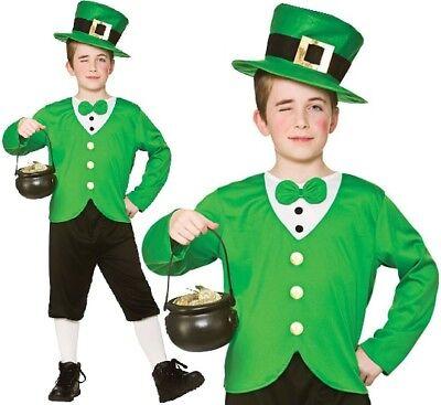 Kinder Jungen Lustig Kostüm Kobold Kinder st Patricks Outfit - St Patrick Kostüm Kinder