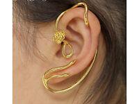 Fairy Tale Beauty and the Beast Earrings Ear Cuff Belle Golden Rose Stud Earrings For Women Charm