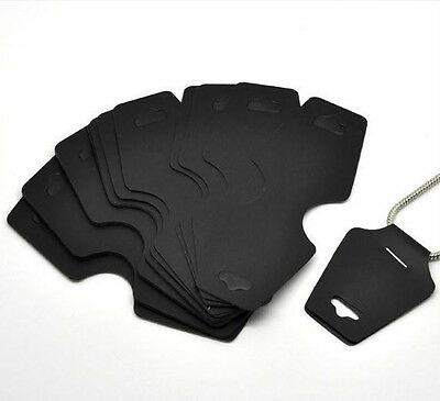 50pcs Black Necklace Bracelet Jewelry Display Cards 11x4.5cm