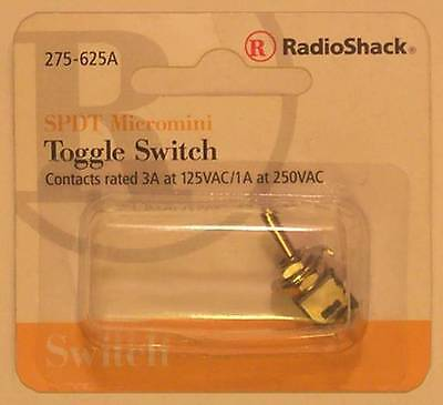 Radioshack 275-625 Spdt Micromini Toggle Switch 3a At 125vac Or 1a At 250vac