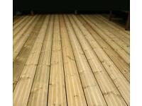 Decking fences and sheds