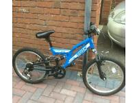 Boys bike blue - 7 -9 years from Halfords