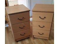 2 Bedside Units Cabinets Tables