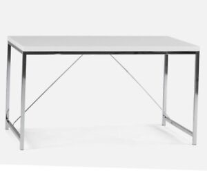 Office Desk- Chrome with Lacquered Top