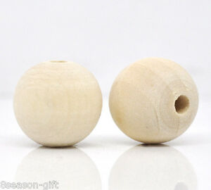 50-Nature-Colour-Round-Wood-Spacer-Beads-17mm-18mm