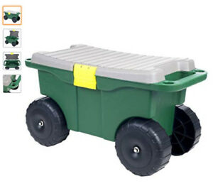 Pure Garden 75-MJ2011 Plastic Storage Cart & Scooter