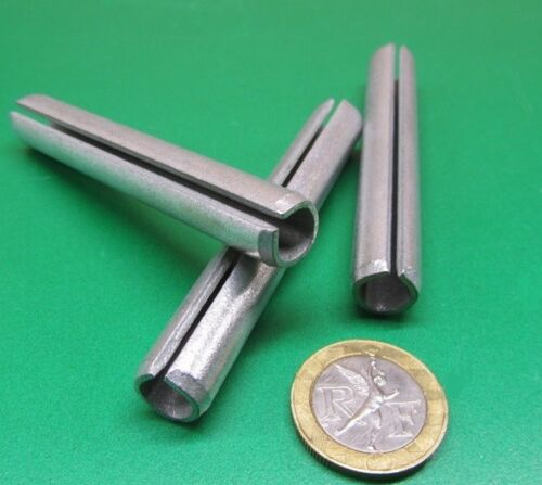 """Zinc Plate Steel Slotted Roll Spring Pin, 7/16"""" Dia x 3.0"""" Length, 10 pcs"""