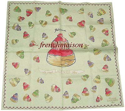 Laduree French Multicolor SCARF Macaron Cakes Gift BOUGHT IN PARIS U.S. SELLER