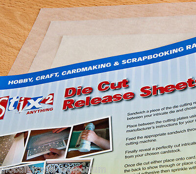 STIX2 A4 Die Cut RELEASE SHEETS x 10 - Craft/Calibur/Big Shot/Card Making ETC