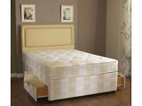 Divan bed for sale Double size base with semi orthopedic mattress same day delivery CALL NOW