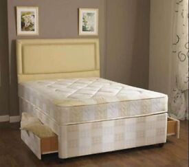 Order Now special Double size base with semi orthopaedic mattress=== same day delivery CALL NOW