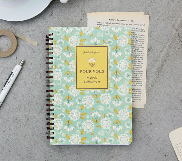 Pour Vous Melody Spring Notebook
