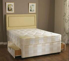 Order--- Now special Double size base with semi orthopedic mattress same day delivery CALL NOW