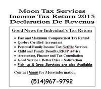 Last minute Income Tax Return 2015 - Moon Tax Services