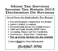 Last Minute Income Tax Return 2015 - Moon Tax Services