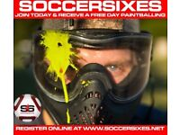 FREE KITS, PAINTBALL VOUCHERS IN WIDNES SOCCERSIXES